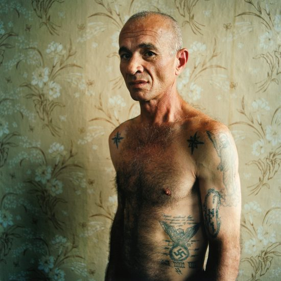 Michal Chelbin, A man with Swastika Tattoo, Men's Prison, Ukraine
