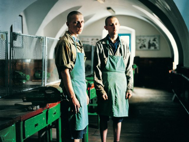 Michal Chelbin, Sergey (on right) and a Friend, Sentenced for Murder, Juvenile Prison for Boys, Ukraine
