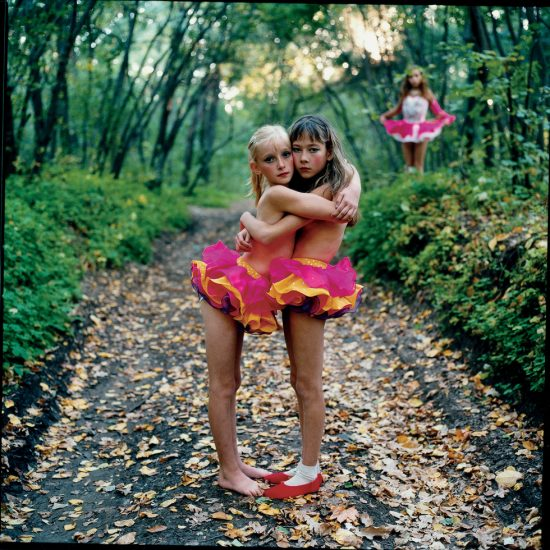 Michal Chelbin, Xenia, Janna and Alona in the woods, Russia