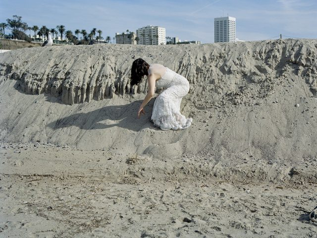 Lily Colman, Within Reach (Self Portrait on dunes)