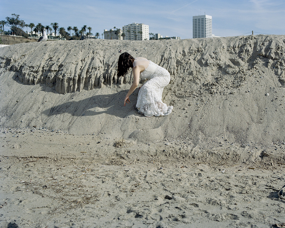 """Lily Colman """"Within Reach (Self-portrait on dunes)"""""""