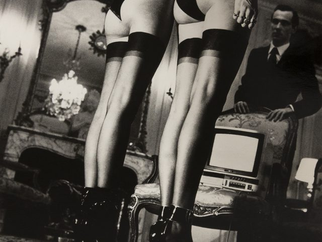 Helmut Newton, Two Models in Stockings at Attention, 1979