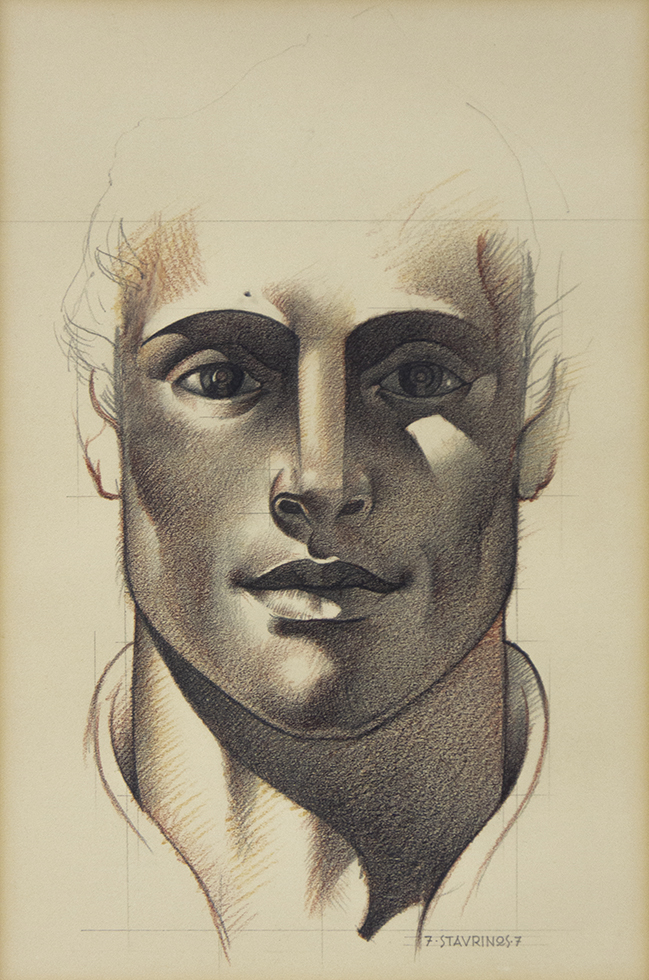 Untitled (Portrait of a Man Looking Straight Forward)