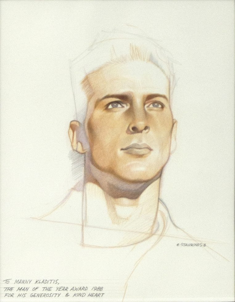 Untitled (Color Portrait of Man Looking Into the Distance)
