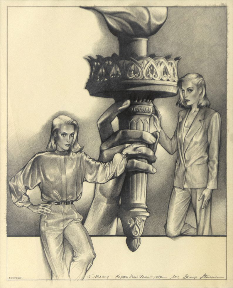 Untitled (Two Women and the Statue of Liberty)