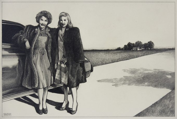 Stavrinos, Two Women in Fur Coats