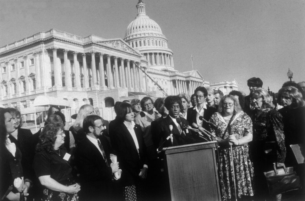 """Dawn Wilson, Speaking at the Press Conference at the First """"Transgender Lonny Day,"""" Washington DC"""