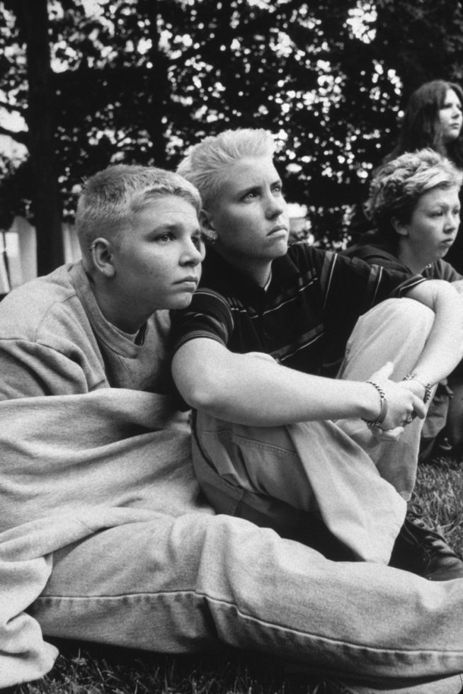 """Hollis and Alex, Students From Florida, at a """"GenderPAC"""" Gathering, DC."""
