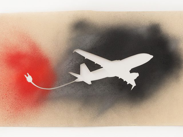 Jane Bauman, Airplane, 1982