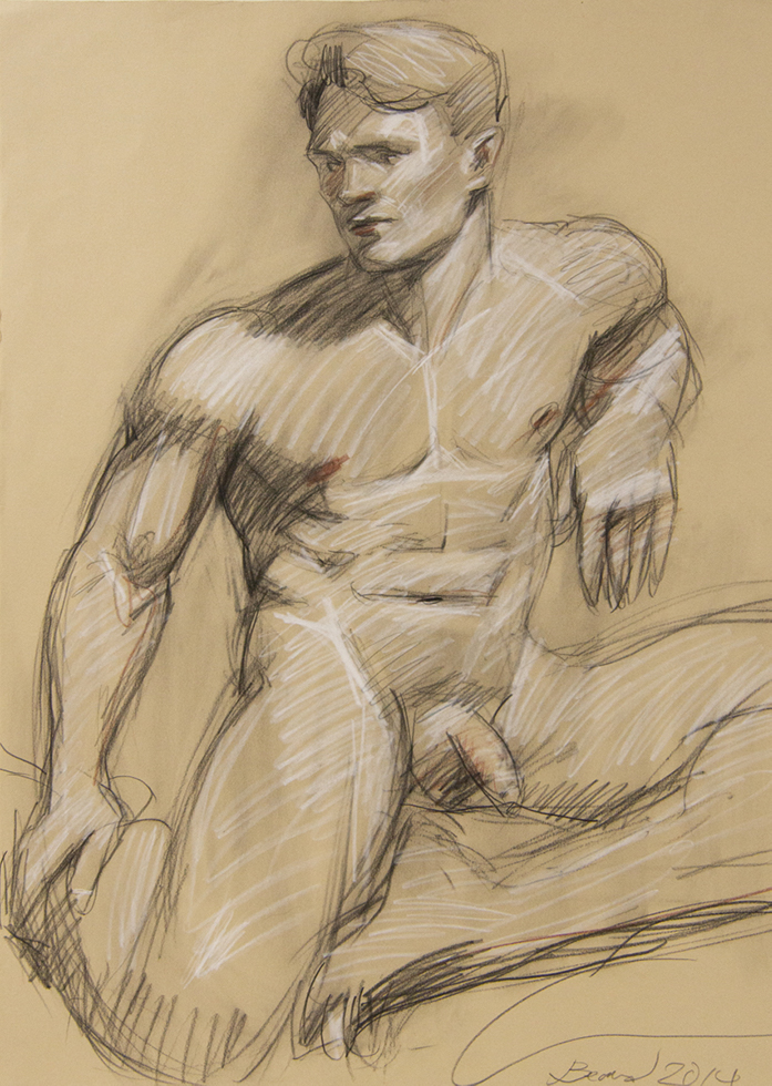 Untitled (Nude Facing Left)
