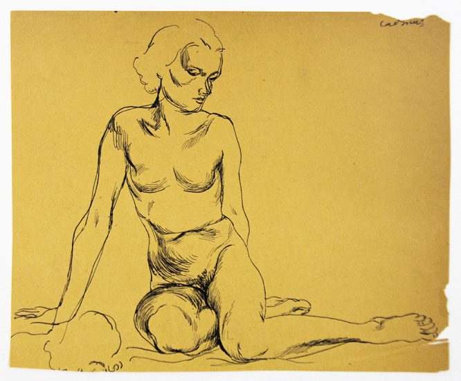Paul Cadmus, Seated Female Nude