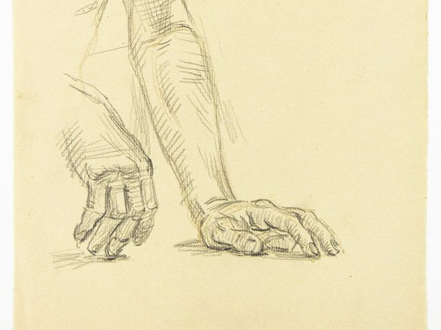 Paul Cadmus, Two Studies of a Resting Hand