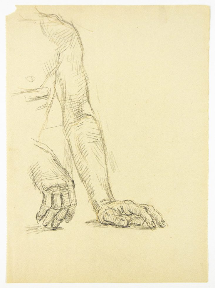 Two Studies of a Resting Hand