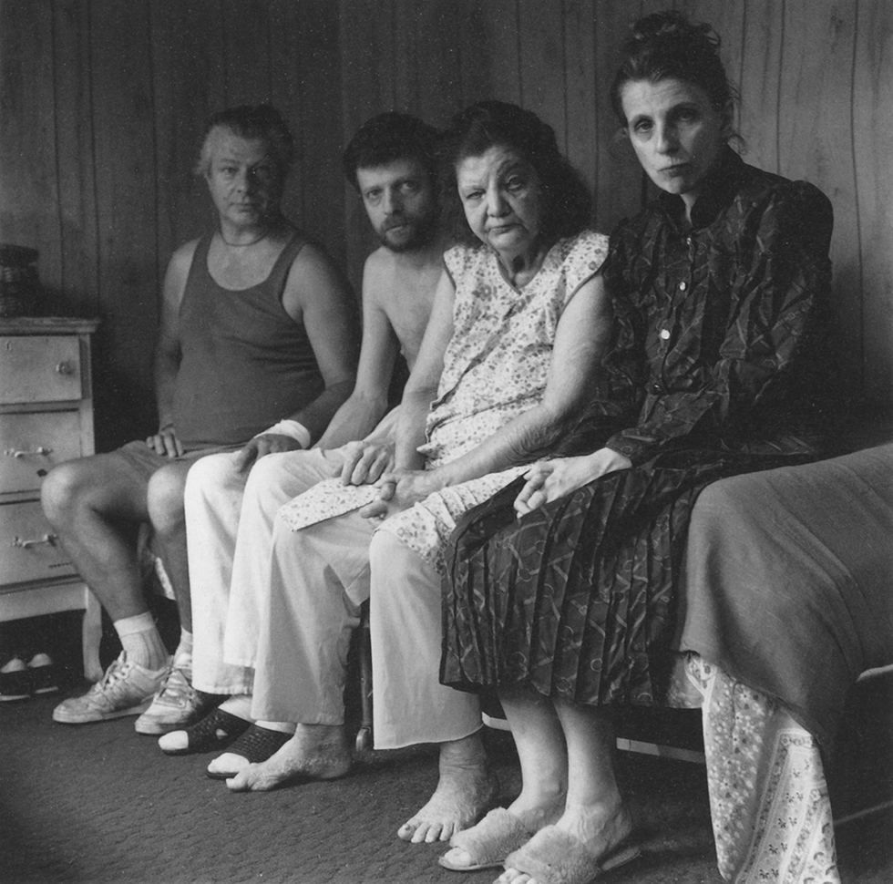 Peter Orlovsky with mother and twin siblings