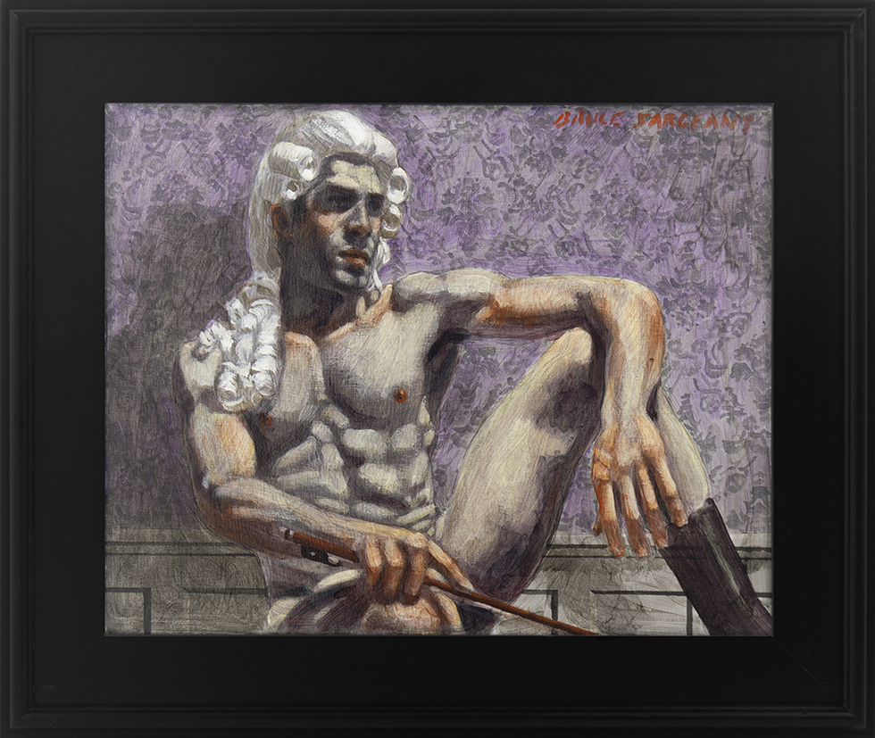 [Bruce Sargeant (1898-1938)] Man in Powdered Wig at Rest