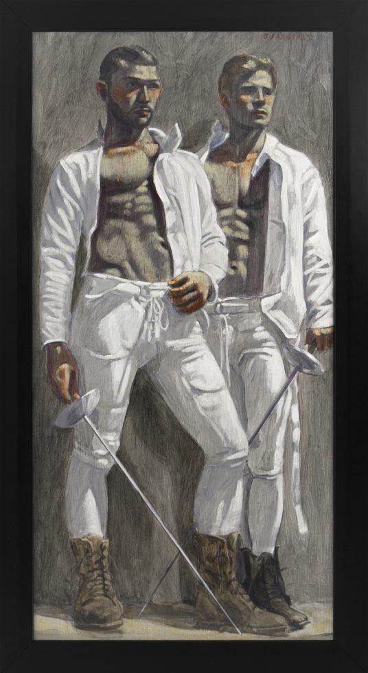 [Bruce Sargeant (1898-1938)] Two Fencers Watching a Match