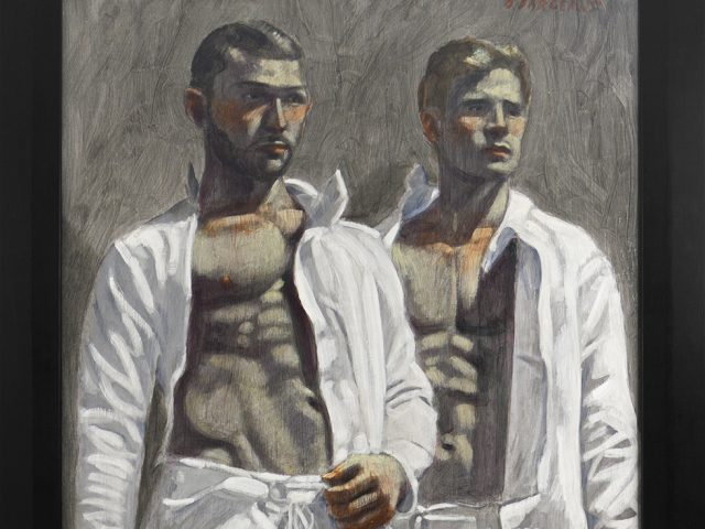 Mark Beard, [Bruce Sargeant (1898-1938)] Two Fencers Watching a Match