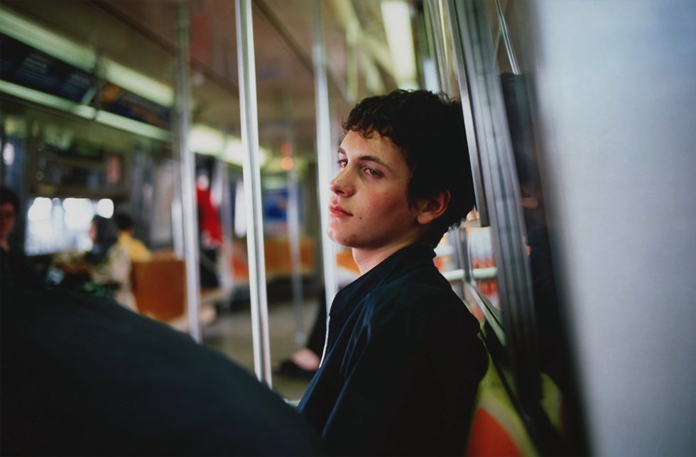 Simon on the subway, New York