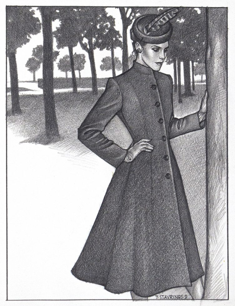 Lady in Coat in Park