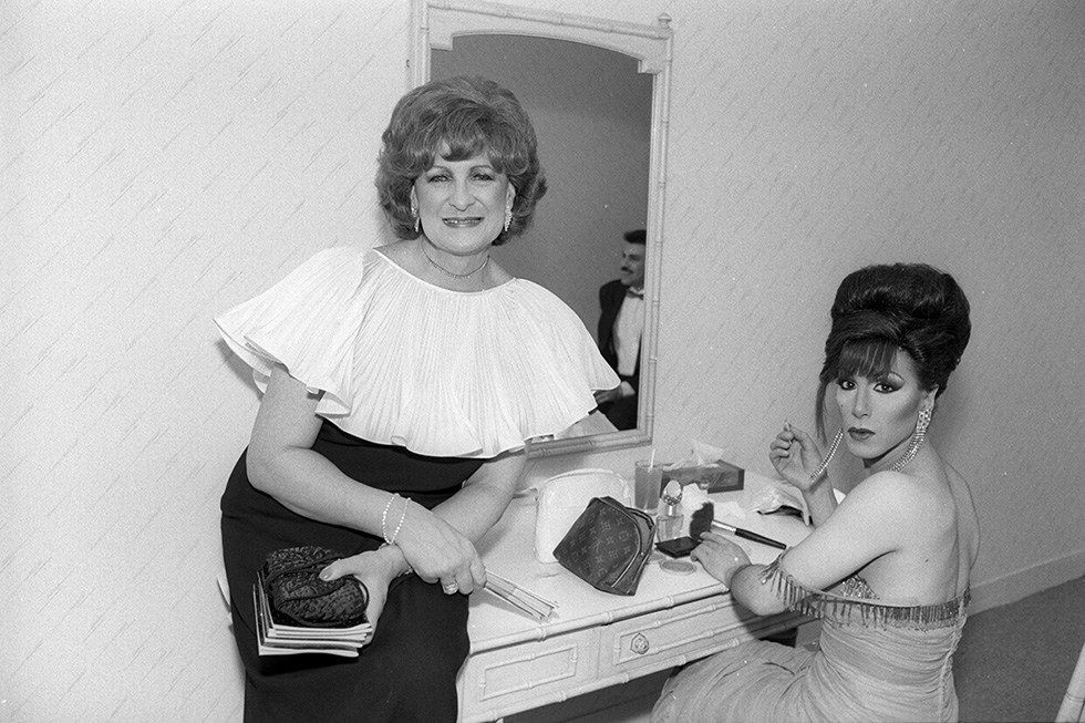 """Sheila in the Ladies' Room at the Annual Ball, """"Night of a Thousand Gowns,"""" NYC"""