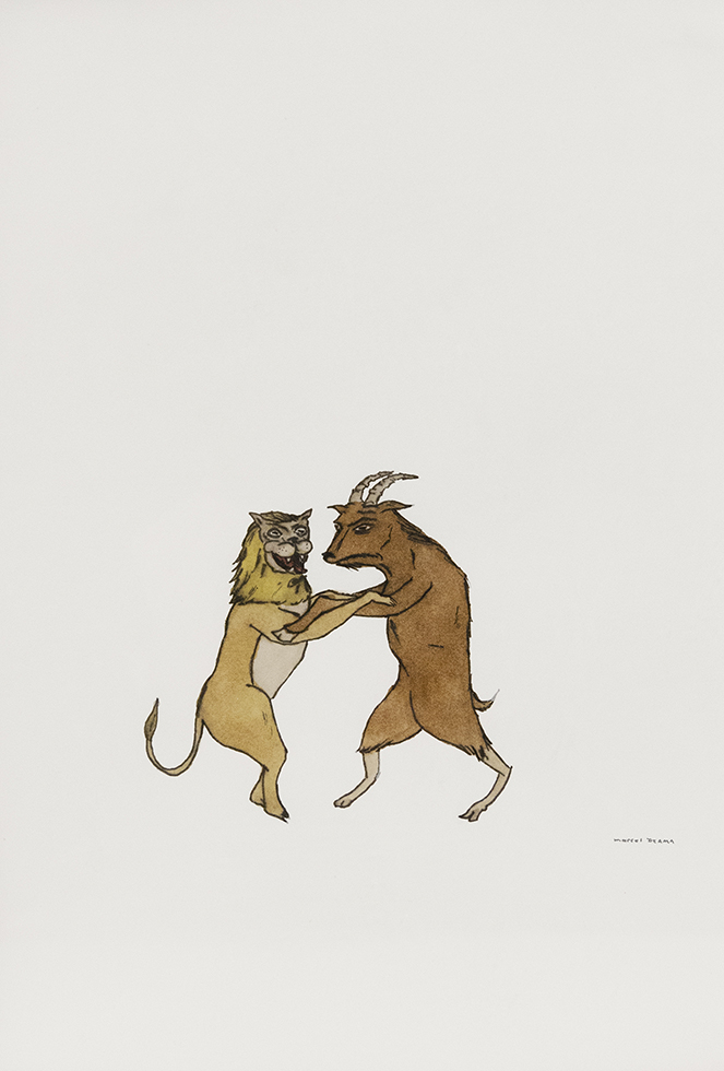 Untitled (Lion and goat)