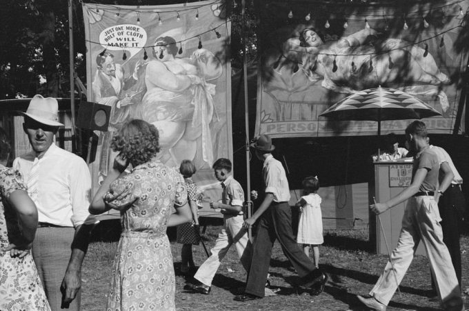 Ben Shahn, Sideshow, county fair, central Ohio