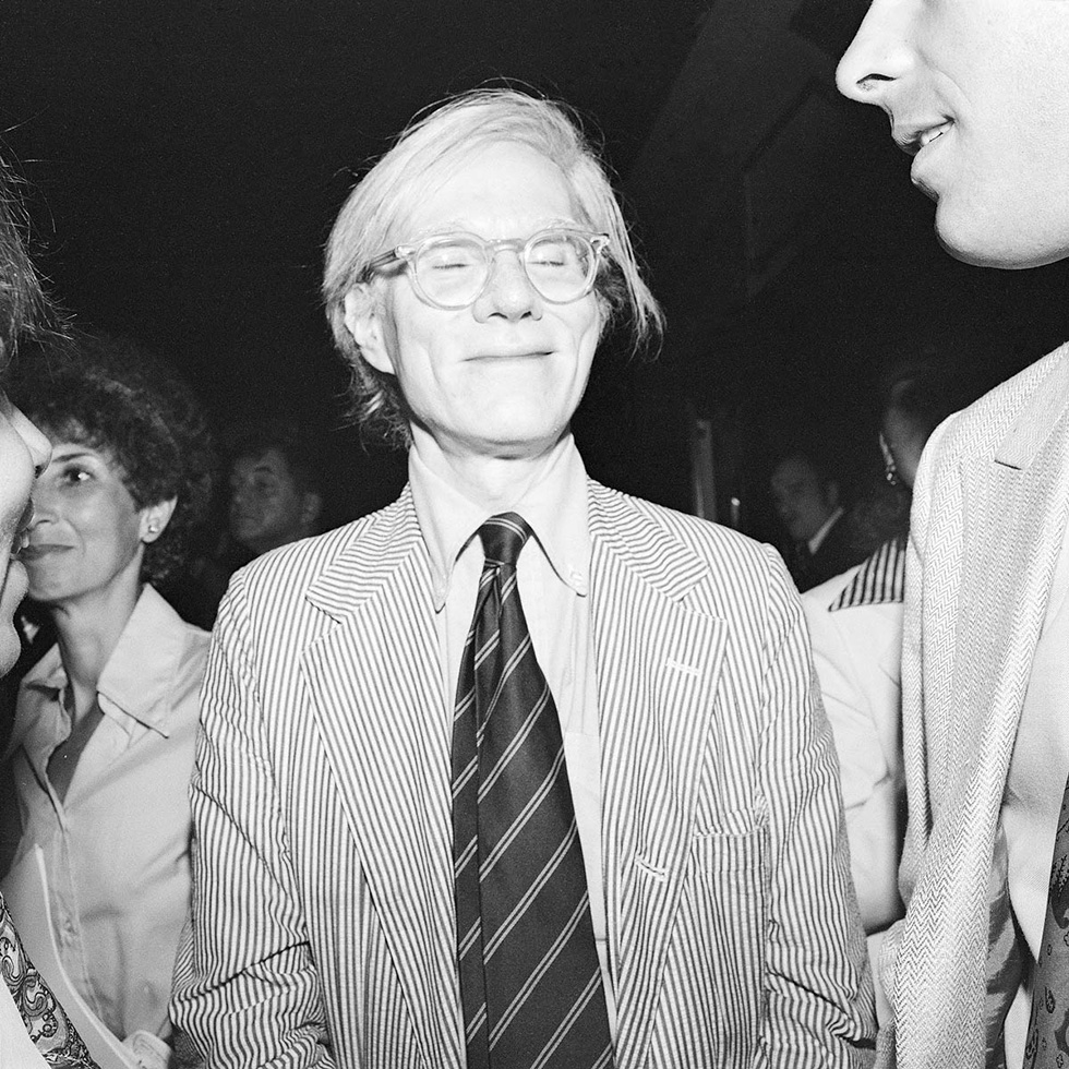 Andy Warhol Smiling with Eyes Closed (Between his Friend and JudiJupiter)