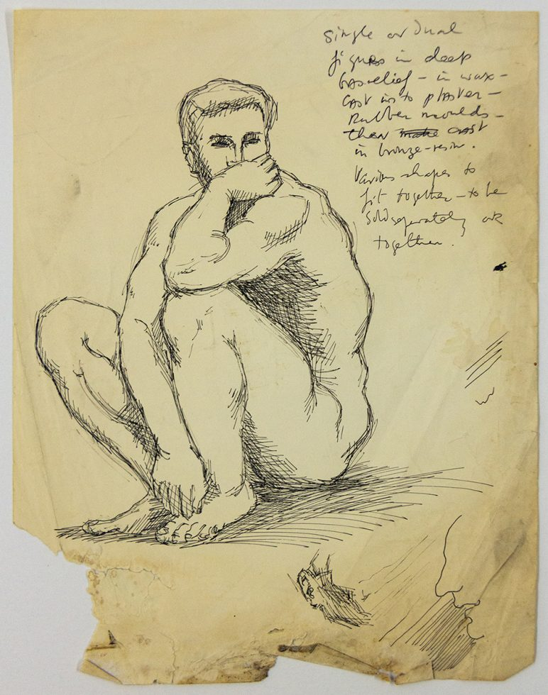 Man Thinking (Study for a Sculpture)