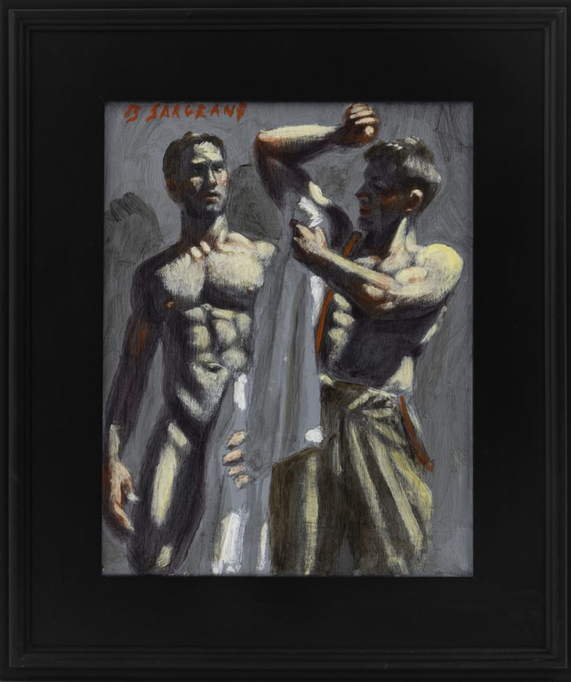 [Bruce Sargeant (1898-1938)] Two Men Drying Off with White Towels