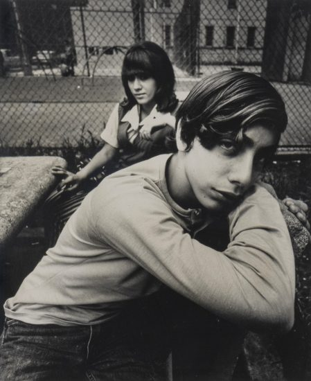 Arthur Tress, Two Teenagers in a Housing Project Park, 1971