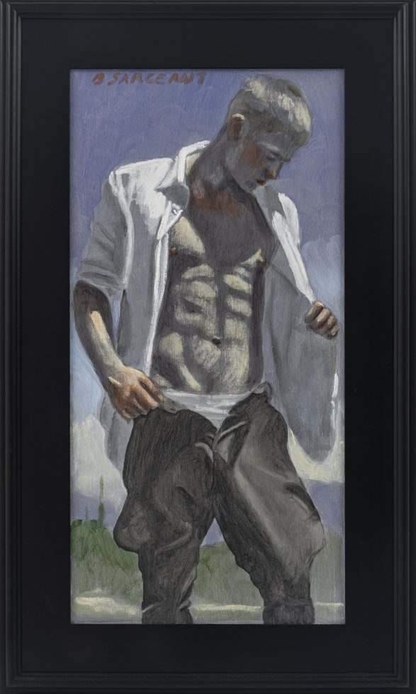[Bruce Sargeant (1898-1938)] Man With Open Shirt