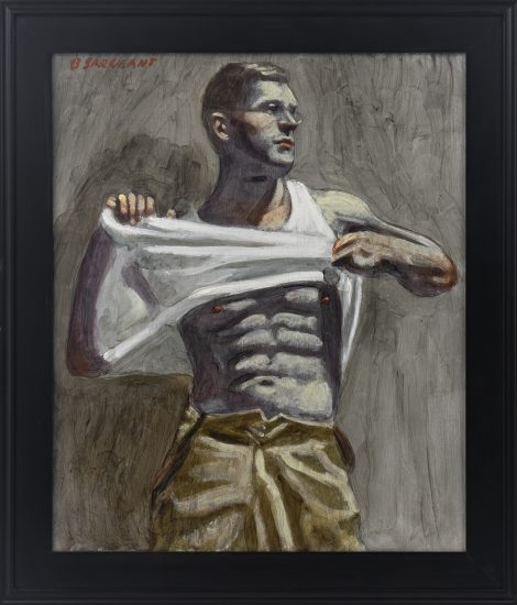 Beard,[Bruce Sargeant (1898-1938)], Taking Off His Shirt