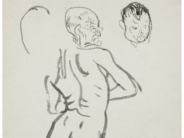 Cadmus, Old Man from Behind with Face Study