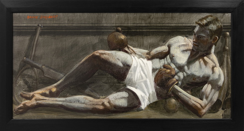 [Bruce Sargeant (1898-1938) Reclining with Boxing Gloves