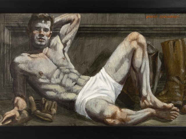 Mark Beard, Bruce Sargeant, Reclining Male in White Shorts