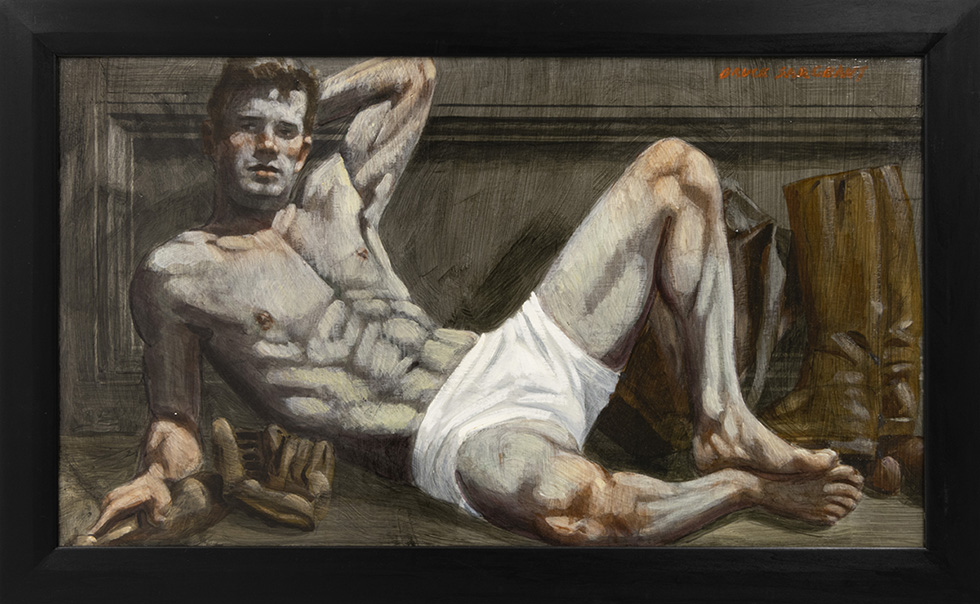 [Bruce Sargeant (1898-1938)] Reclining Male in White Shorts