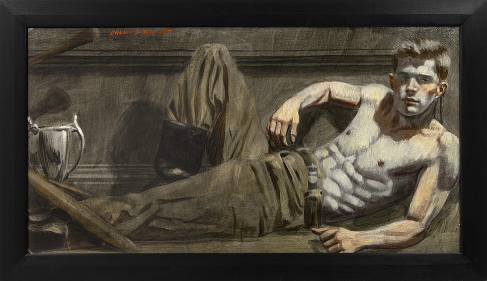 [Bruce Sargeant (1898-1938)] Reclining with a Trophy by his Feet