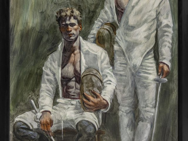 Mark Beard, Bruce Sargeant, Portrait of Two Fencers