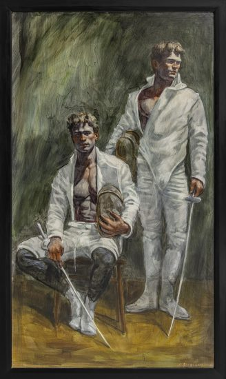 Mark Beard, Bruce Sargeant, Portrait of Two Fencers, Mural