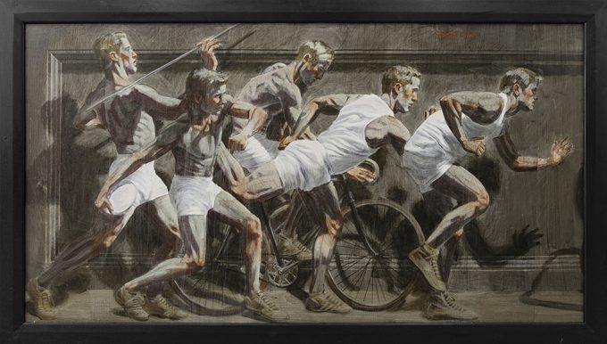 [Bruce Sargeant (1898-1938)] Frieze with Five Tightly Grouped Athletes
