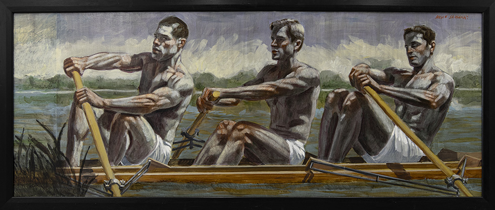 [Bruce Sargeant (1898-1938)] Three Rowers, Early Morning Practice