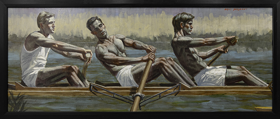 [Bruce Sargeant (1898-1938)] Three Rowers, Gliding Across the Water