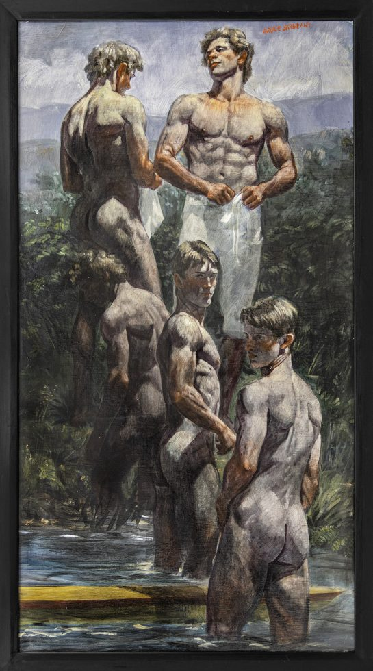 [Bruce Sargeant (1898-1938)] Five Rowers by the River