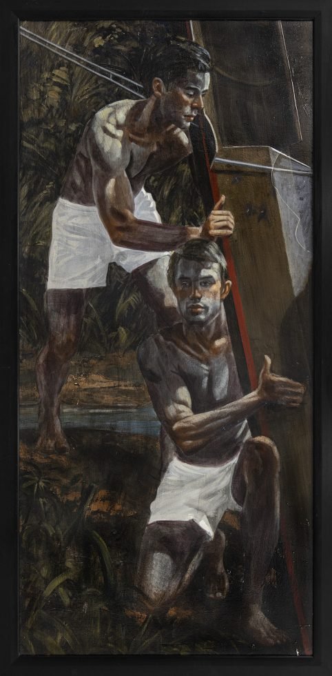 [Bruce Sargeant (1898-1938)] Two Men Launching the Scull