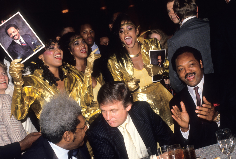 Untitled (Don King, Donald Trump, and Jessie Jackson)