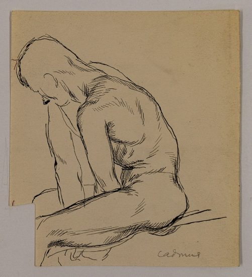 Paul Cadmus, Male Figure Study (Jared French)
