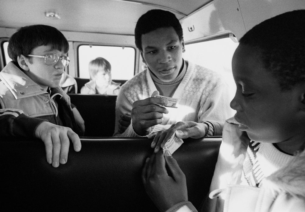 Catskill Boxing Club Members Play Liar's Poker on Their Way Home from a Match