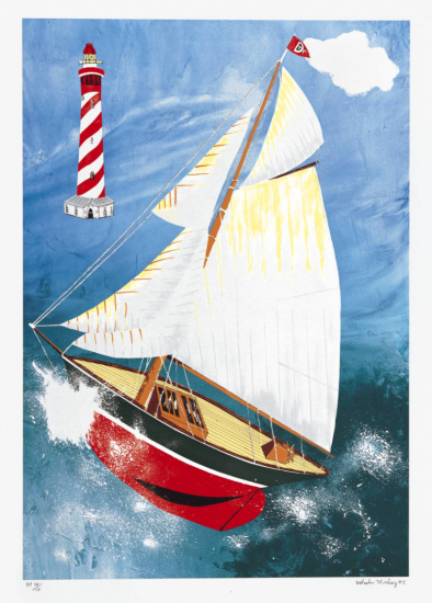 Malcolm Morley_Pamela Running Before the Wind with a Dutch Lighthouse