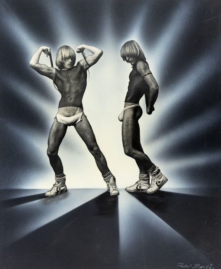 Peter Berlin, Double Self Portrait with High Top Converse