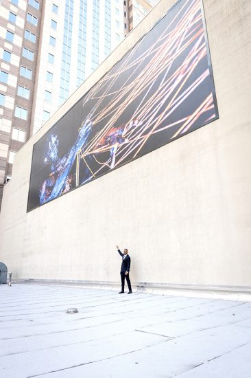 Mikael Owunna mural unveiled at Heinz Hall in downtown Pittsburgh